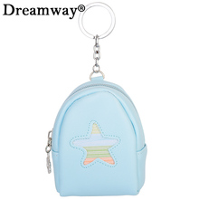 New design leather backpack keyring for children lovely car key holder keychain best birthday gift for girlfriend free shipping