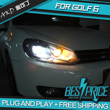AKD Car Styling Head Lamp for GOLF 6 GOLF6 Headlights LED Headlight DRL Daytime Running Light Bi-Xenon Lens HID Accessories