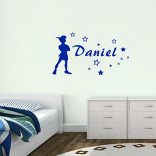 Personalized Baby Names Wall Sticker Classic Cartoon Characters DIY Stars Wall Decals Special Art Boys Girls  Bed Room Decor