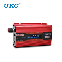 UKC 500W Power Supply Solar Inverter Car Auto Converter DC 12V to AC 220V USB Charger Adapter Portable Voltage Digital Display