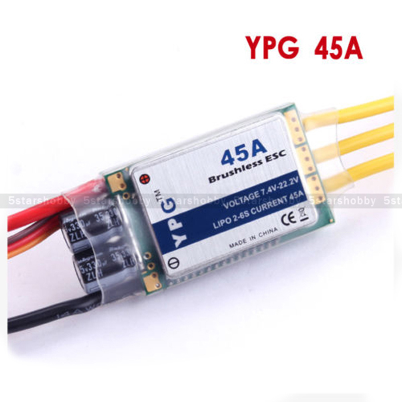 YPG 45A ESC 2~6S SBEC Brushless Speed Controller For Trex 450L 480 Helicopter<br>