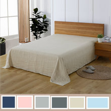 Multicolor Linen Bedding 100% Pure Linen Flat Sheet 1 Piece Washed With Good Handfeeling(China)