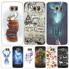 harry potter deer always owl howgwarts hallows cell phone case cover for Samsung Galaxy S7 edge PLUS S8 S6 S5 S4 S3 MINI