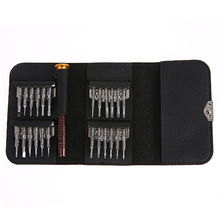 25 in 1 Mini Wallet Pocket Precision Repair Screwdrivers for Cellphone Laptop Pad Sunglasses Camera Watch Maintance Tool Kit