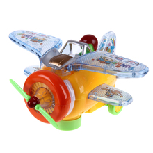 Electric Musical Flashing Toy Airplane Model New Design Mini Light Music Sound Aircraft Toy Helicopter Aircraft Stall Flight Toy