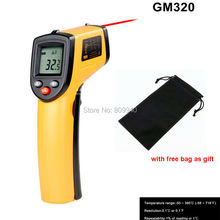 Thermometer thermal imager digital thermometer handheld non-contact ir laser infrared digital temperature gun thermometer gm320(China)