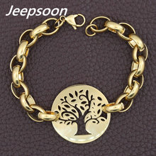 Fashion Stainless Steel Jewelry For Woman Christmas Tree Bracelet Chain High Quality Jeepsoon BGEGAFBA