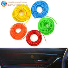 5M Universal Car Styling Flexible Interior Internal Decoration Car Moulding Trim Decorative Strips Line DIY Accessories