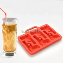 free shipping 200pcs/lot 2014 Gun Freeze Party Ice Mould Jelly Chocolate Mold Cube Cake Cookies Maker Tray 18.5*14.5*1.5cm