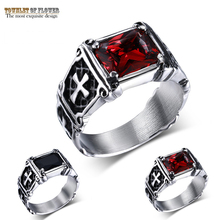 New selling red black ring titanium steel men's party rings stainless steel domineering marriage custom jewelry decoration cou(China)