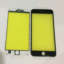 200pcs Free DHL AAA Quality LCD Touch Screen Outer Front Glass Lens with Frame Bezel Assembly for iPhone 6S Plus Housing Part