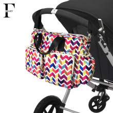 2017 New colorful wave baby diaper bag qulited baby stroller bag big capacity baby bag organizer mother travel maternity bag