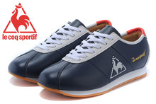 Le Coq Sportif Men's Running Shoes,High Quality Cow Leather Upper Le Coq Sportif Men's Athletic Shoes Sneakers Navy/White 2