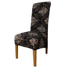 Printing flowers long back size Chair Cover checked pattern Chair Covers seat cover Hotel Party Banquet housse de chaise decor