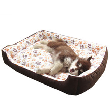 2017 Winter Warm Cotton Panded Dog Bed House Mat Cozy Soft Sofa Kennel For Small Medium Large Puppy Dogs Cats XS-XXL , 3 Colors(China)