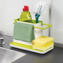 Kitchen Sponge Holder Detergent Box Sink Self Draining Rack Dish Storage Rack Bathroom Organizer Stands Soap Jewelry Rack D38J28