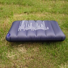Inflatable Camping Pillow Dark Blue Large Inflatable Camping Pillow Travel Flocking Outdoor Home free shipping