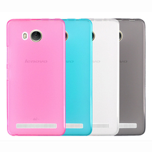 Tomoral Case For Lenovo A5600 A5500 Pink Blue Grey Clear Cover Soft TPU Gel Matte Back Shell Defender