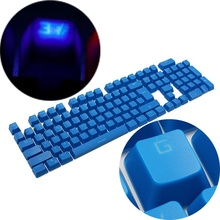 for Cherry MX Switches Backligh Gaming Keyboard Switch 104 Keycap Double Shot Translucent Backlit ABS Translucidus Key caps Blue