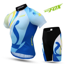 Buy 2017 BATFOX Summer Short Cycling Jersey Sets Male Men Pro Team Gel Cycling clothing short sleeve bike bicycle accessories for $31.13 in AliExpress store