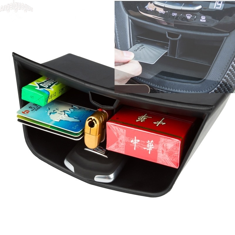 angelguoguo ABS Car Center console storage box key / cigarette / phone holder box Car-styling For Cadillac XT5 accessories