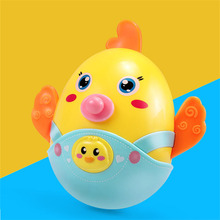 High-quality Chicks Baby Mobiles bell Nodding Tumbler rattles Roly-poly teether Toy Fun for Newborn Gift(China)