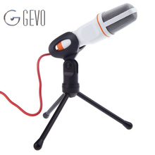 Computer Microphone SF-666 3.5mm Professional Wired Stereo Handheld Mic With Stand Holder For Studio Recording Karaoke Phone(China)