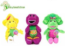 Skyleshine 3PCS/lot Purple Dinosaur Barney Can Sing A Song  Plush Doll Baby Born Toy For Children Gift S133