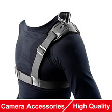 For Gopro Accessories Adjustable Universal Single Shoulder Strap Grip Mount Chest Harness Belt Travel for GoPro Clip