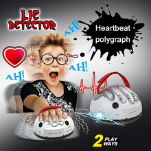 Tricky Funny Adjustable Adult Polygraph Test Micro Electric Shock Lie Detector Shocking Liar Truth Party Game Consoles Toy Gifts(China)