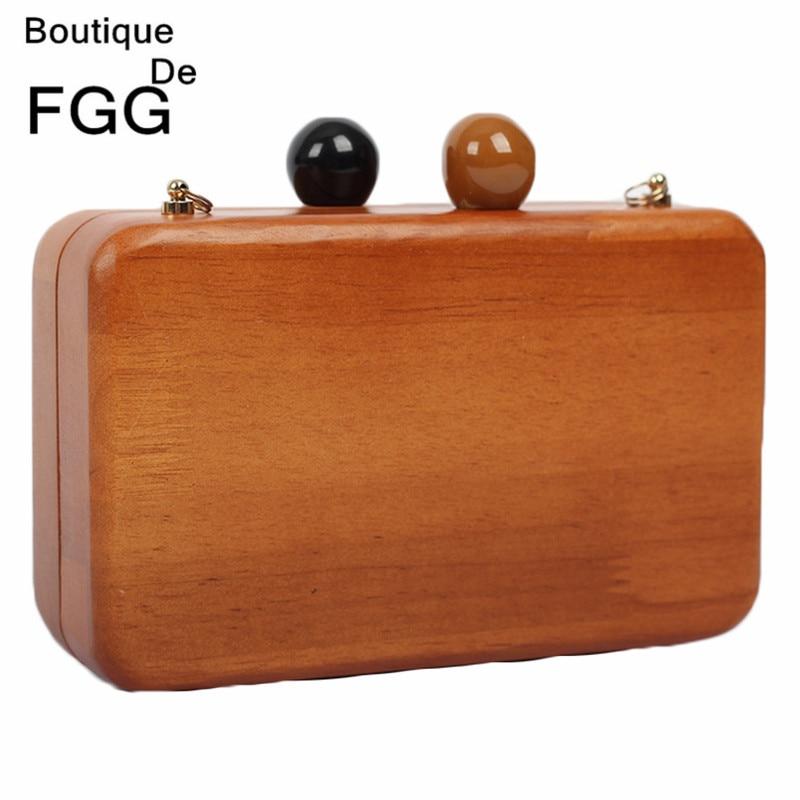 Famous Brand Double Balls Lock Women Wooden Shoulder Bag Evening Clutch Ladies Hard Case Day Clutches Minaudiere Handbag Purse<br><br>Aliexpress