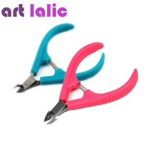 Nail Cuticle Cutter Tool Stainless Steel Finger/Toe Nail Dead Skin Cuticle Scissor Nail Clipper Nipper Manicure Tool Pink/Blue(China)