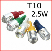 2pcs/lot T10 2.5w len high power led auto light T10 2.5w 360degrees emmiting with lens car lamp #j#