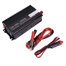 1500W Solar Power Inverter DC 12V & AC 230V Modified Conventer with Car Charger & 1Pair Alligator Clip For Television DVD Player