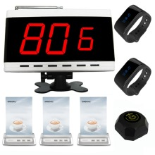 SINGCALL Wireless Calling System,waiter-calling-system 1 fixed receiver 2 bracelet watch pagers 3 table call button 1 pager(China)