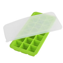 3Pieces/Set Covered Ice Cube Trays with lid Containers Baby Food Ingredients Storage Freezer