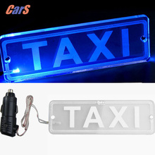 Taxi LED Sign Light Indicator DC 12V LED Transparent PMMA TAXI Cab Roof Neon Sign Light Board Support Car Charger