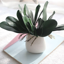 1PC 27.5cm Artificial Fake Leaf Phalaenopsis Simulation Leaves Wedding Party Home office coffee house Living Room Decor 2017