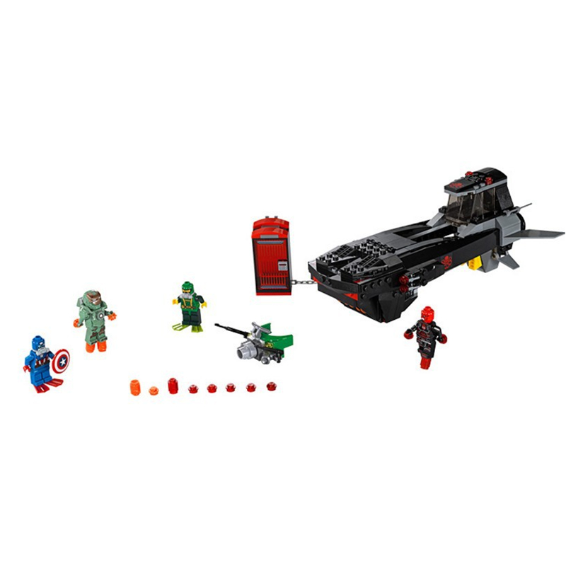 Super Heroes Iron Skull Sub Attack LEPIN 07020 Compatible with gift Building Blocks Toys  Sets Bricks Children Gift<br><br>Aliexpress