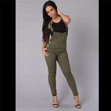 QA463 Plus size high waist jeans women amy green white button pocket decoration denim trousers belt pants(China)