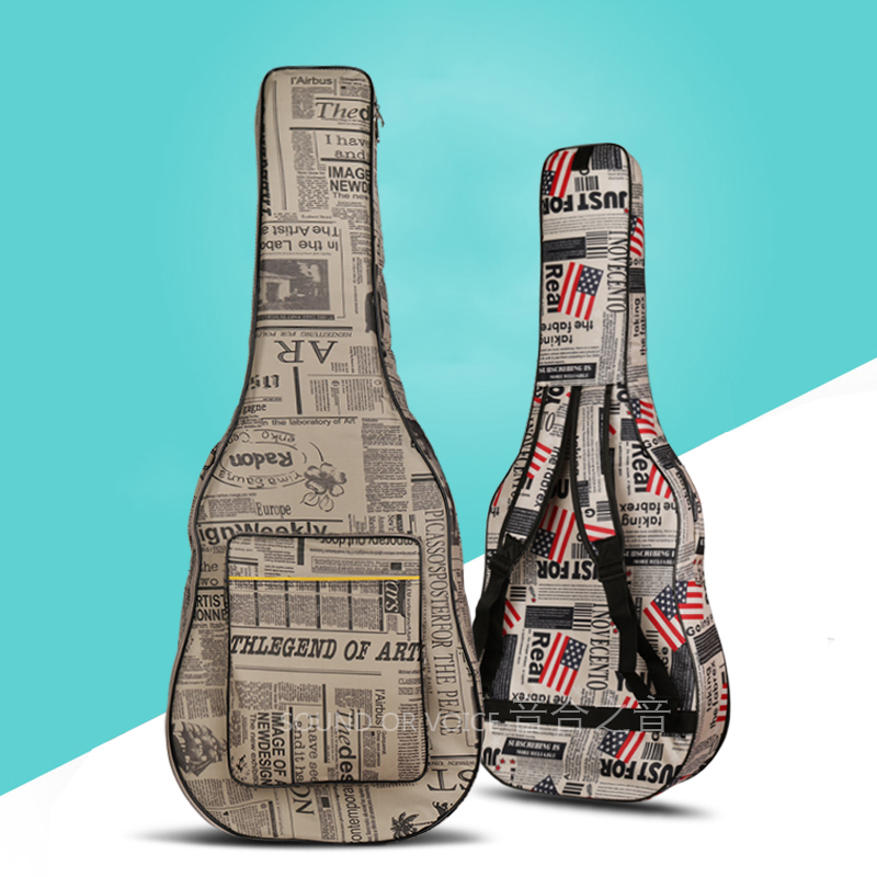 40 inches 41 inches waterproof guitar bag, high quality waterproof canvas folk guitar cases<br>