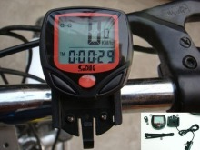 Bicycle Computer Leisure 14-Functions Waterproof Cycling Odometer Speedometer With LCD Display Bike Computers
