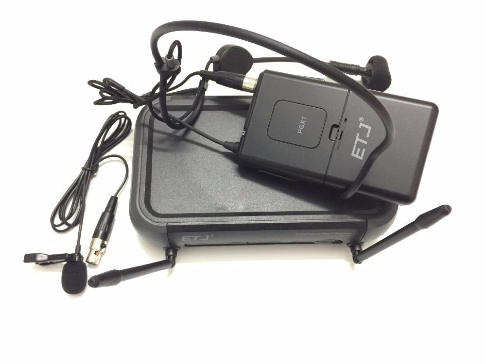 ETJ Brand PGX14 UHF Professional Wireless Microphone System PGX Headset Lavalier Microphone