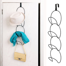 yazi Mluti Function Metal Wire Stackable Mounted Hanger Rack Storage Over The Door Hat Towel Silk Scarf Organizer(China)