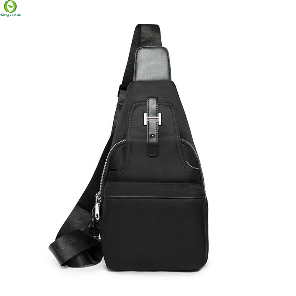 New fashion style Oxford Leather Men chest pack small bag CrossBody Shoulder bag Leisure travel mini bag Black<br><br>Aliexpress