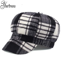 [YARBUU] brand Octagonal Hats for women high quality new fashion cap winter hat for girl's Keep warm Winter hat with cotton(China)