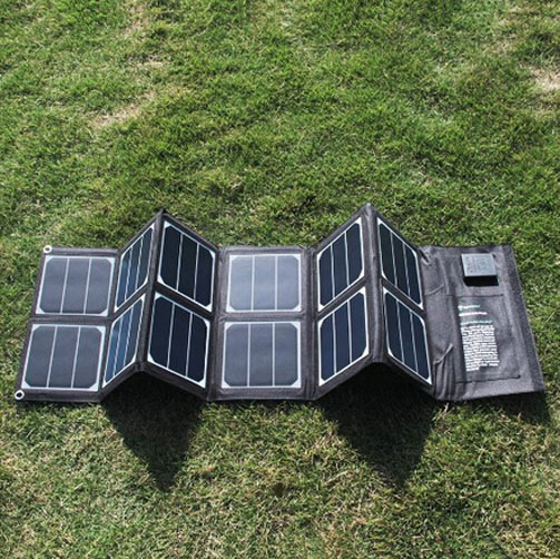 Solar laptops tablets mobile phone power  bank charger 12V 5 V dual output 40W waterproof foldable charger<br><br>Aliexpress