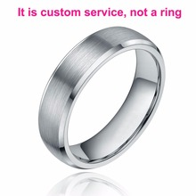 Custom Engraving Ring Simple Design Wedding Rings Couples Rings Finger Jewelry Tail ring