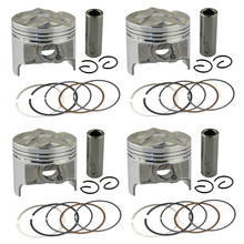 4 Sets +25 Bore 49.25 mm Piston & Piston Ring Kit for Suzuki GSX250 GSX250R GSF250 BANDIT 250 ACCROSS 913 GJ72A GJ73A GJ74A