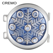 Cremo Elastic Changeable Connector Snowflake Enamel Links Modular Charm Inventive Combination Bracelet Jewelry Accessories(China)